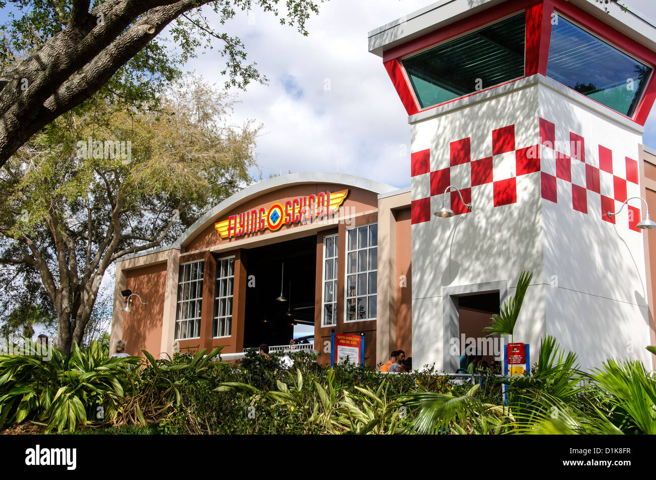 Legoland Florida Flying School ride building, Winter Haven, FL Stock Photo