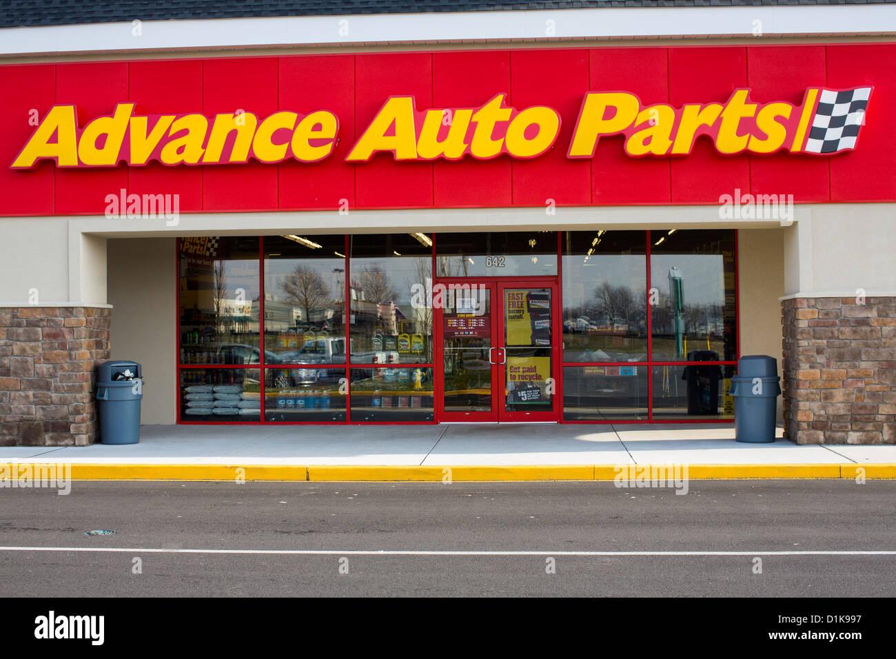 An Advance Auto Parts retail store.  - Stock Image