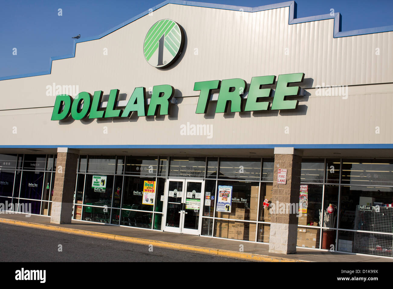 A Dollar Tree retail store.  - Stock Image