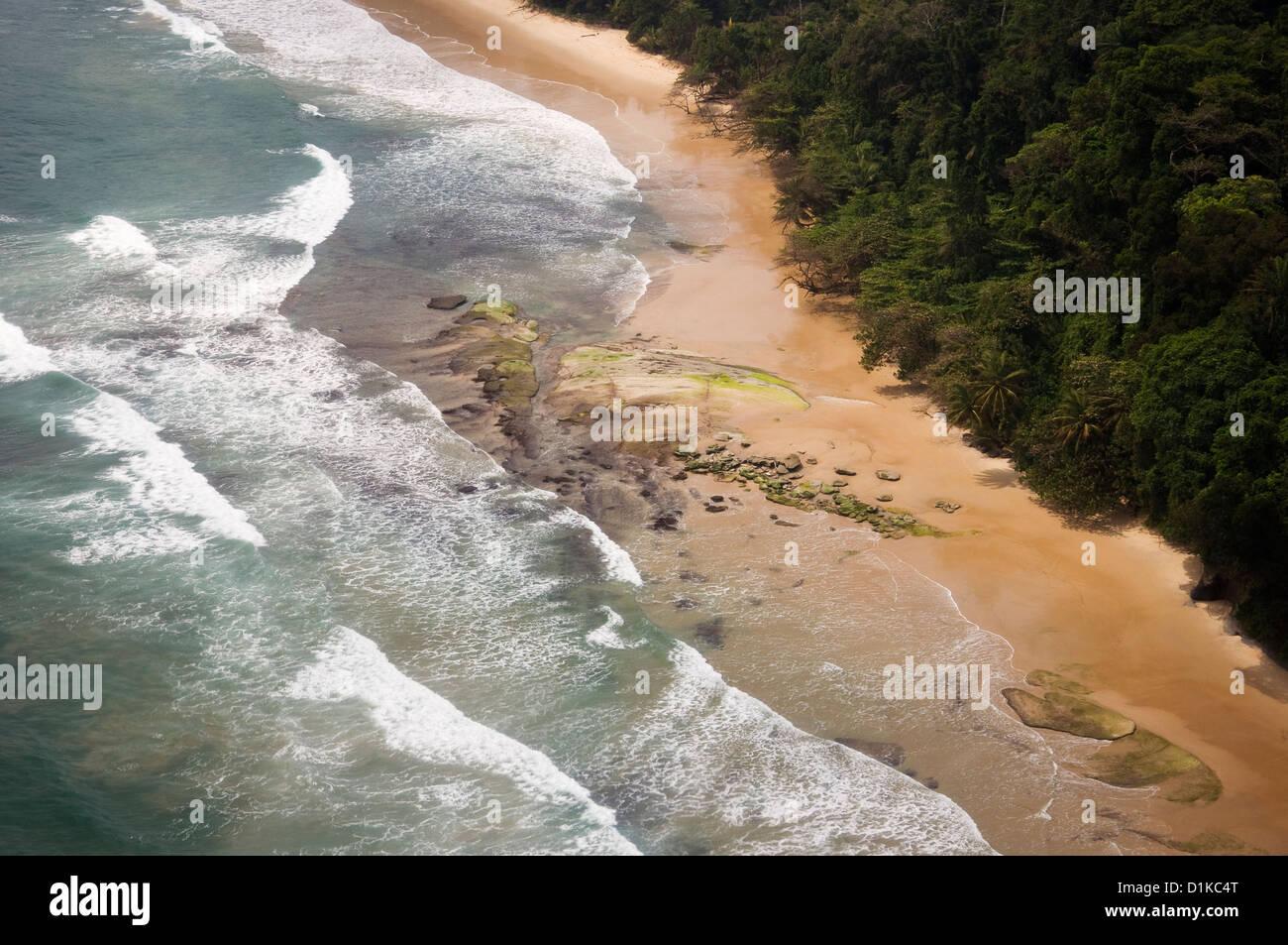 Coastline north of Bata, Equatorial Guinea - Stock Image
