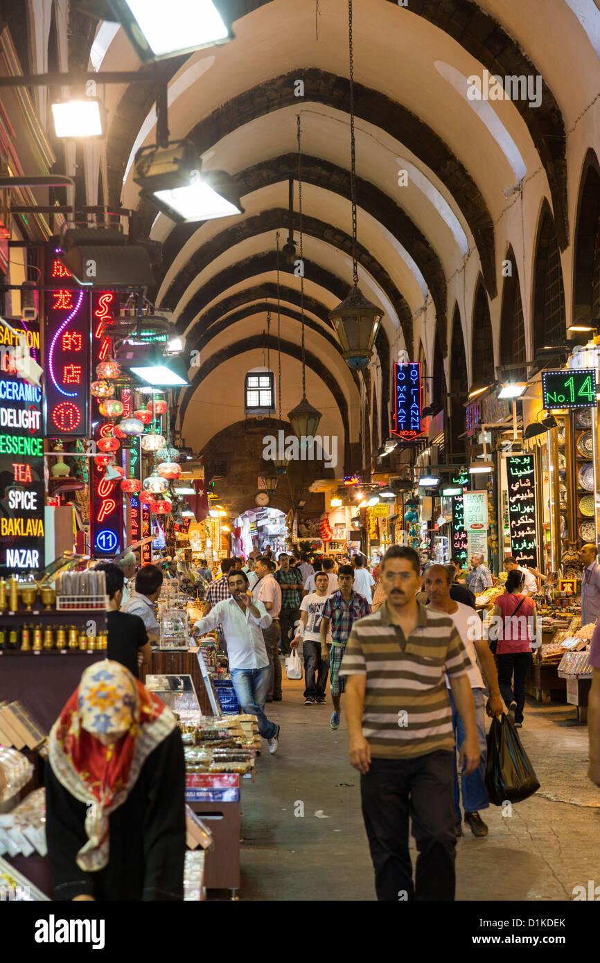 The Spice Bazaar, (Turkish: Mısır Çarşısı), or Egyptian Bazaar, in Istanbul, Turkey - Stock Image
