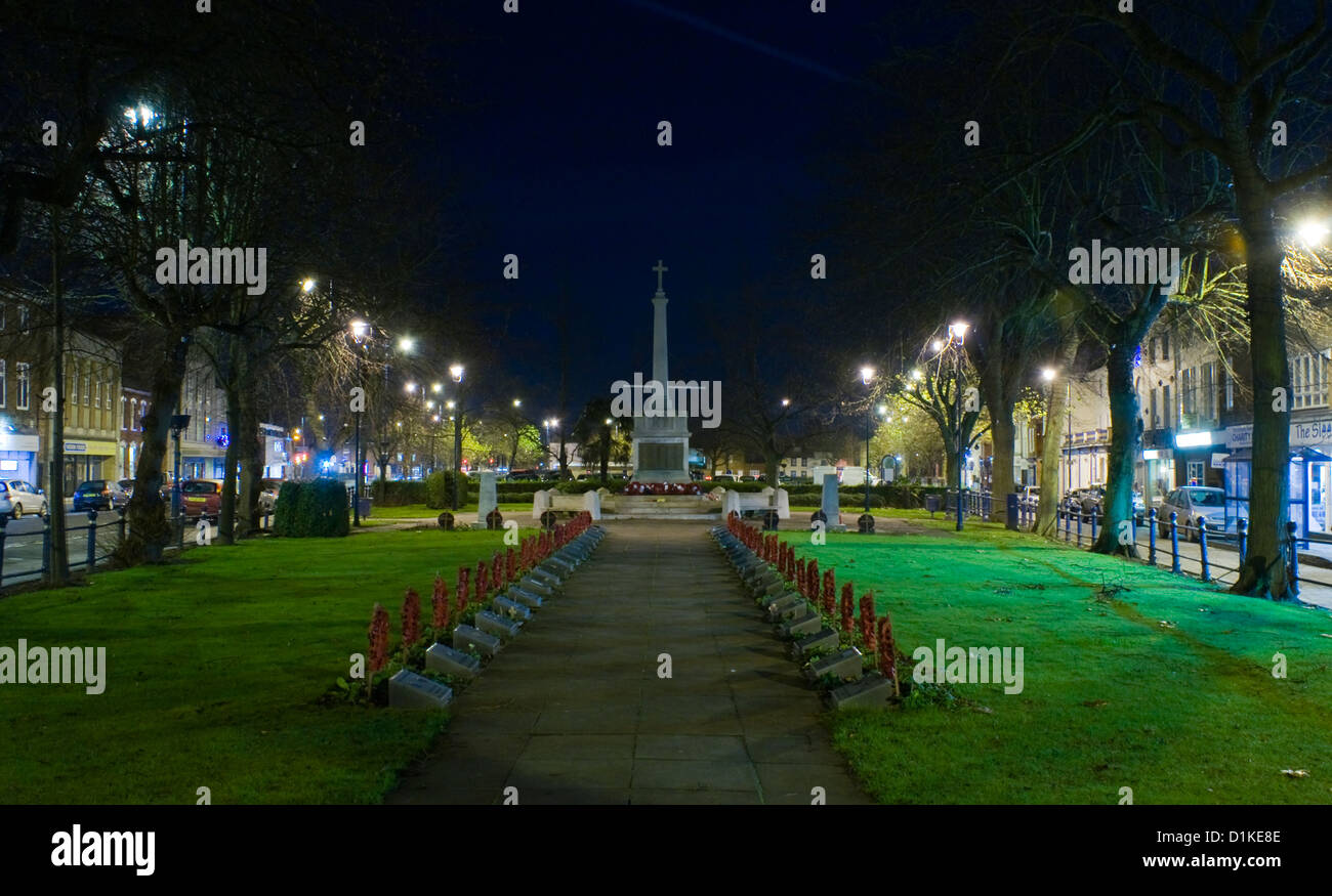 Boston War Memorial at Night - Stock Image