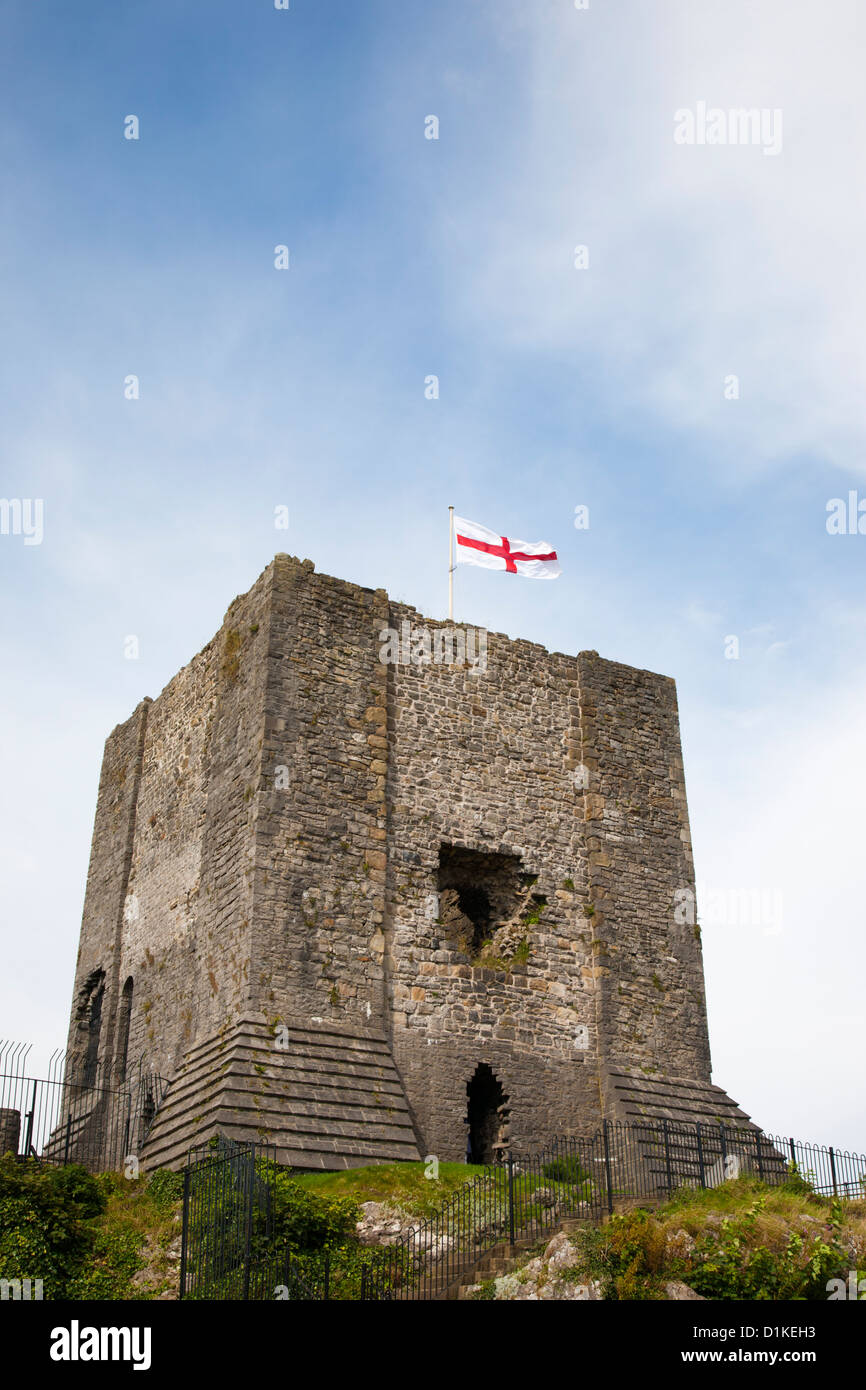 Keep of Clitheroe Castle,Lancashire - Stock Image