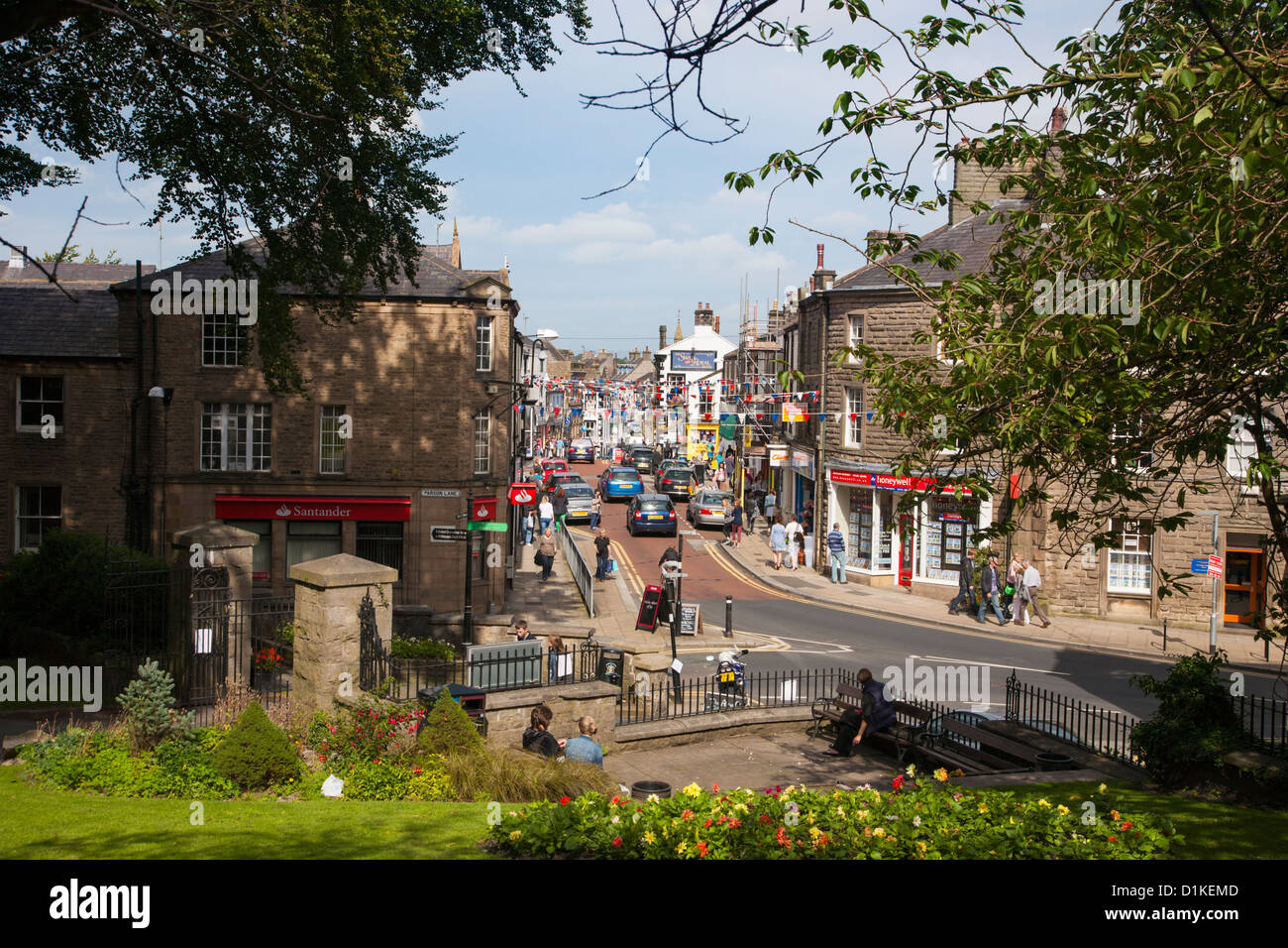 Clitheroe town center - Stock Image
