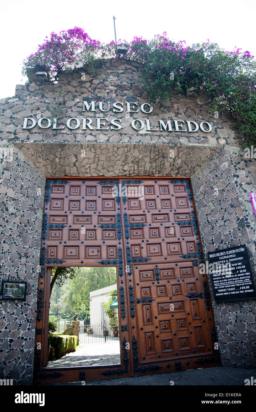 Museo Dolores Olmedo in Xochimilco in Mexico City DF Stock Photo