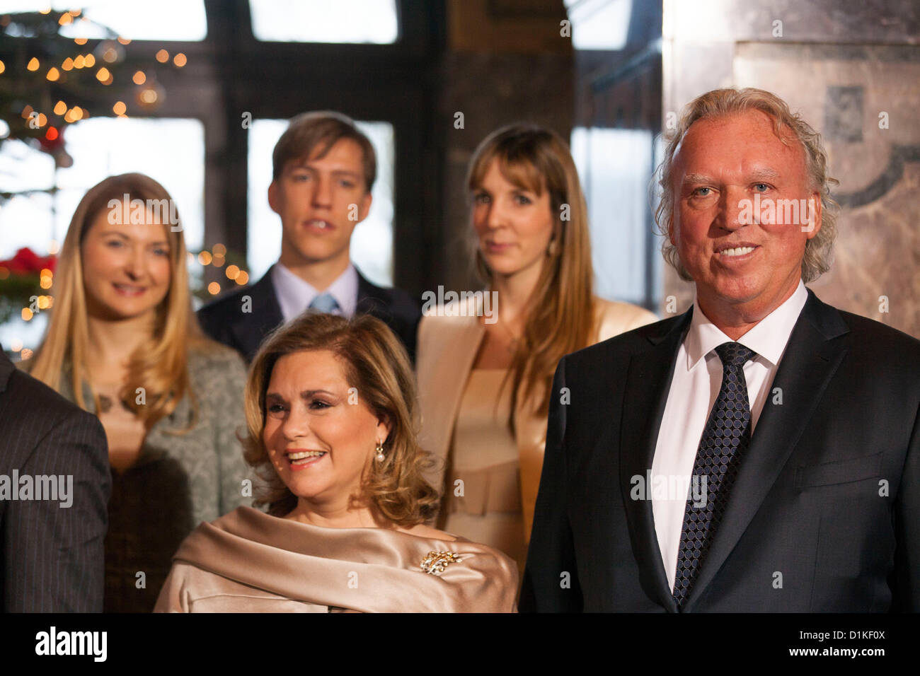 Luxembourg. 27th Dec, 2012. Family Meeting of Prince  Felix of Luxembourg with his bride to be Claire Lademacher - Stock Image