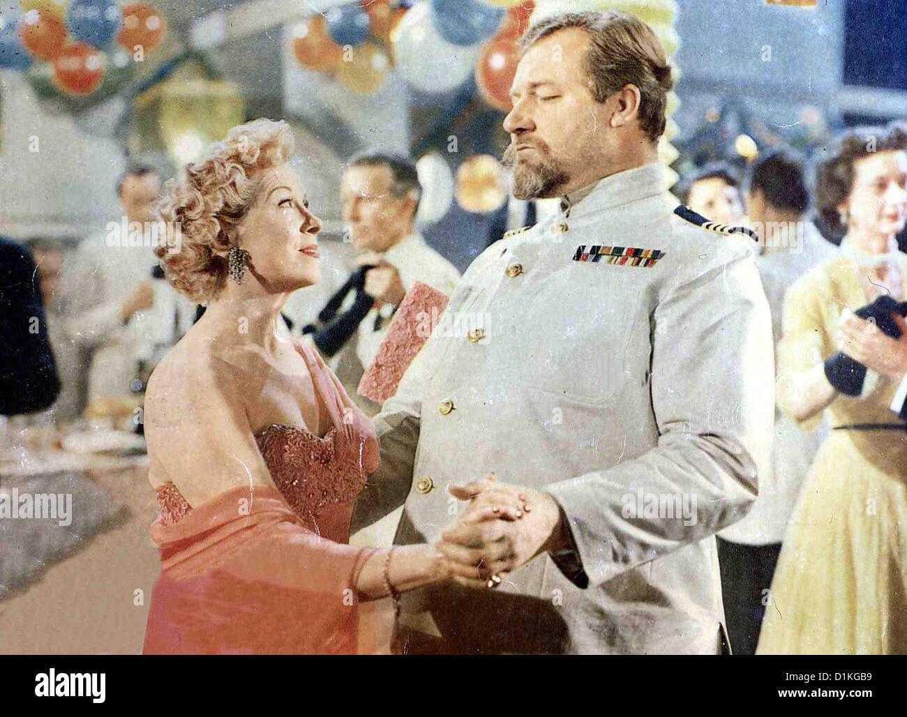 Doktor Ahoi!  Doctor At Sea  Brenda de Banzie, James Robertson Justice Kapitän Hogg (James Robertson Justice) - Stock Image