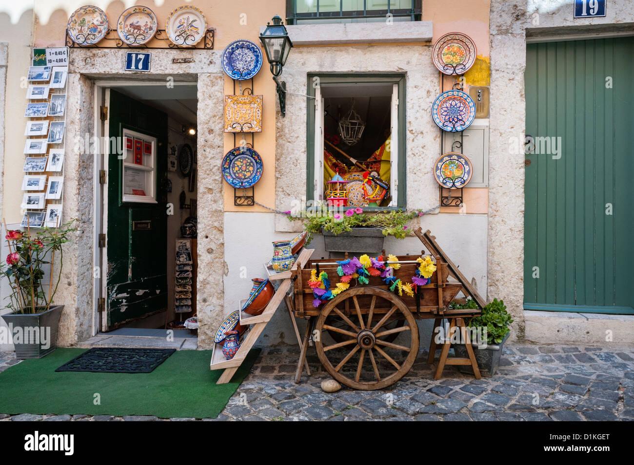 Portuguese Souvenir  Shop - Stock Image