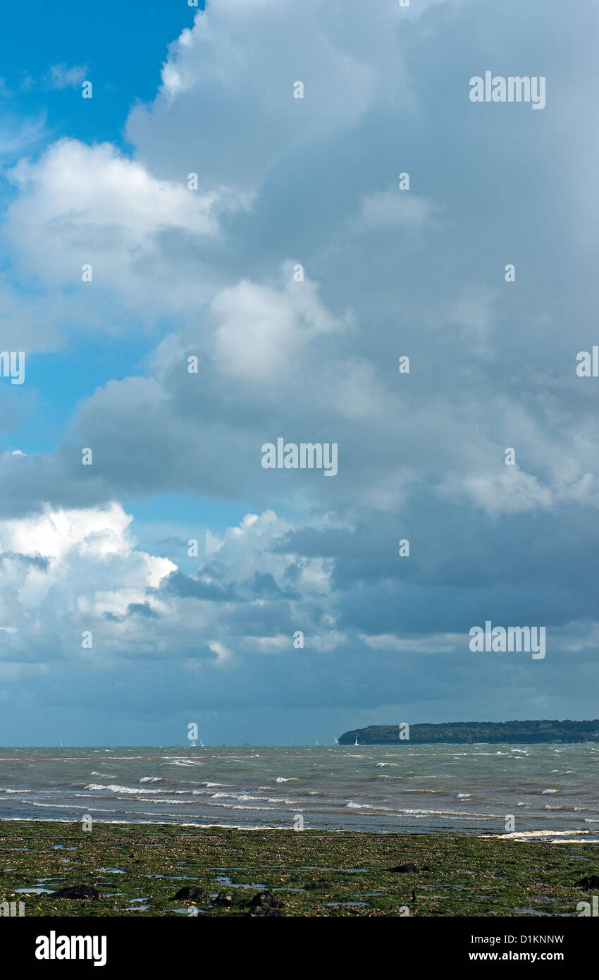Cumulonimbus Storm Cloud over the Isle of Wight - Stock Image