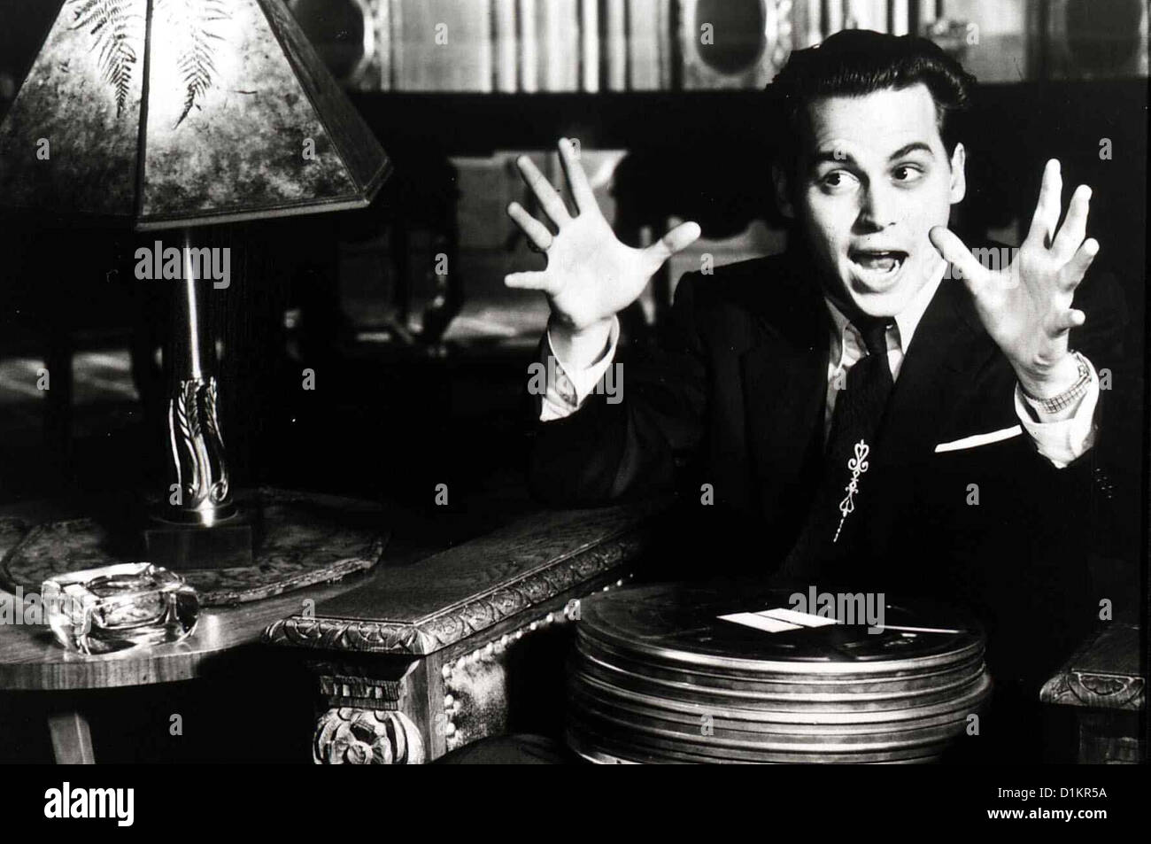 Ed Wood  Ed Wood  Johnny Depp Edward Wood Jr. (Johnny Depp) ist ein exzentrisches 'Allroundgenie', der als - Stock Image