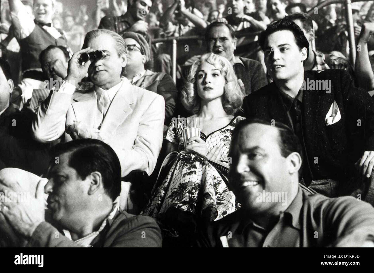 Ed Wood  Ed Wood  Bill Murray, Sarah Jessica Parker, Johnny Depp Ed Wood (Johnny Depp,r) mit seiner Freundin Dolores - Stock Image
