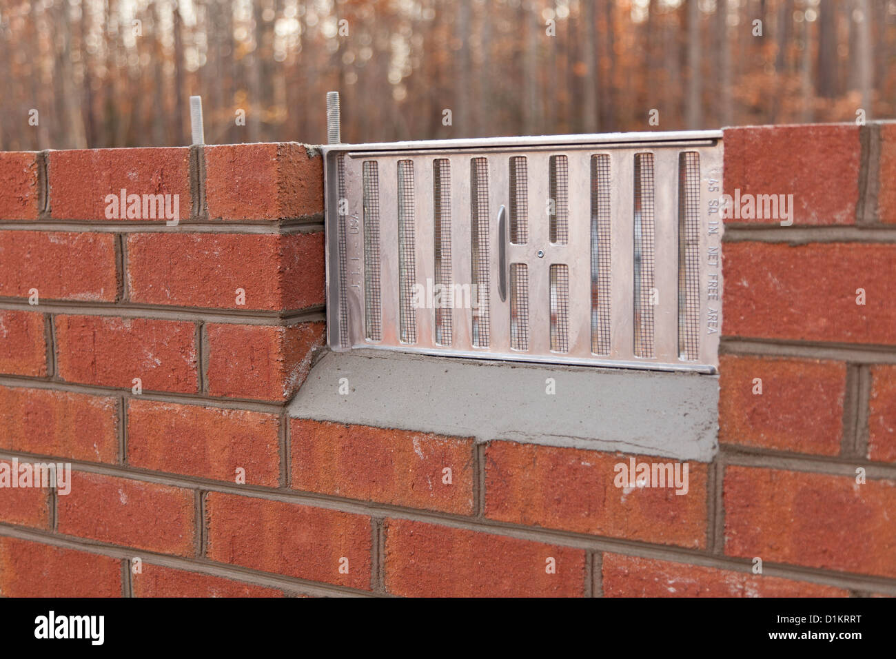 Basement vent in a brick wall of a new home & Basement vent in a brick wall of a new home Stock Photo: 52681548 ...