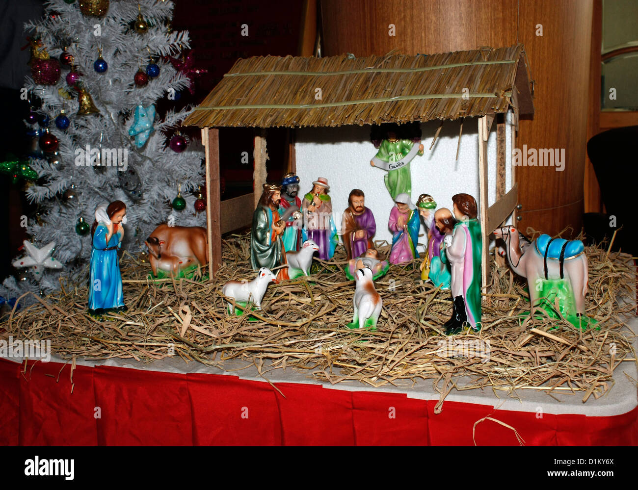 Nativity scene Cristmas Stock Photo