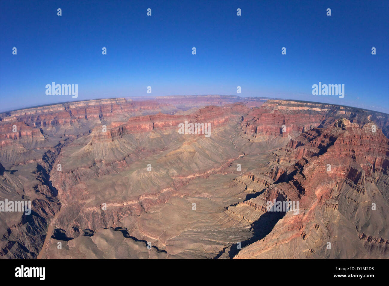 Aerial photo of Grand Canyon from Papillon Helicopter, Grand Canyon National Park, Arizona, USA - Stock Image