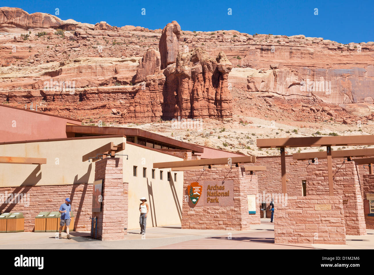 Arches National Park Visitor Center centre Moab Utah USA United States Of America - Stock Image