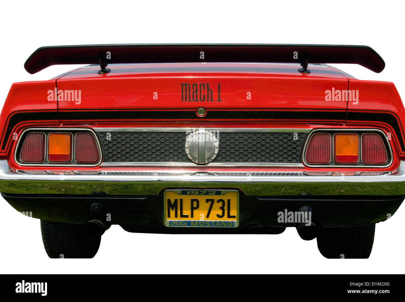 1971 Ford Mustang Mach 1 Fastback Stock Photos Images Rear Of A Red 1972 Image