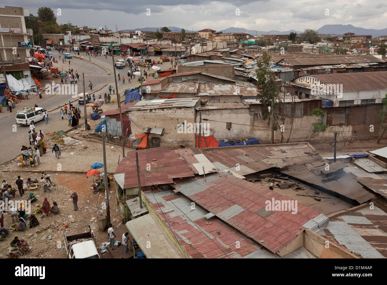 View over Harar, Ethiopia. - Stock Image