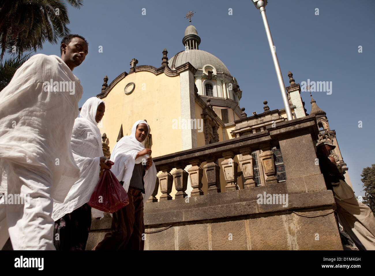 Holy Trinity Cathedral in Addis Ababa, Ethiopia. - Stock Image