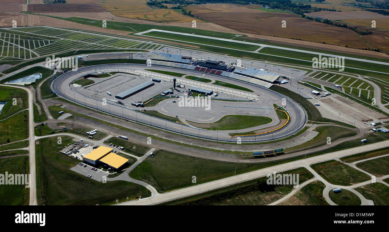 aerial photograph Iowa Speedway, Newton, Iowa - Stock Image