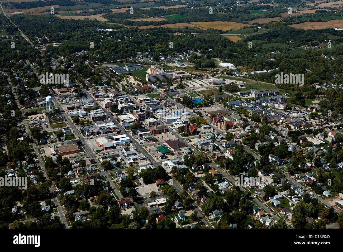 aerial photograph Newton, Iowa - Stock Image