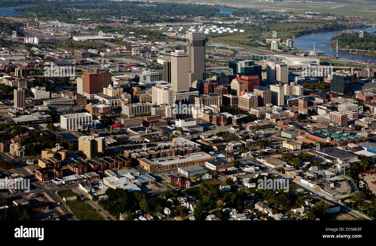 aerial photograph Omaha, Nebraska Stock Photo