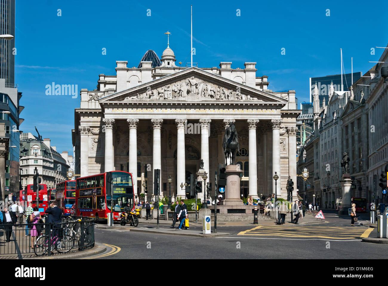 The Royal Exchange, London - Stock Image