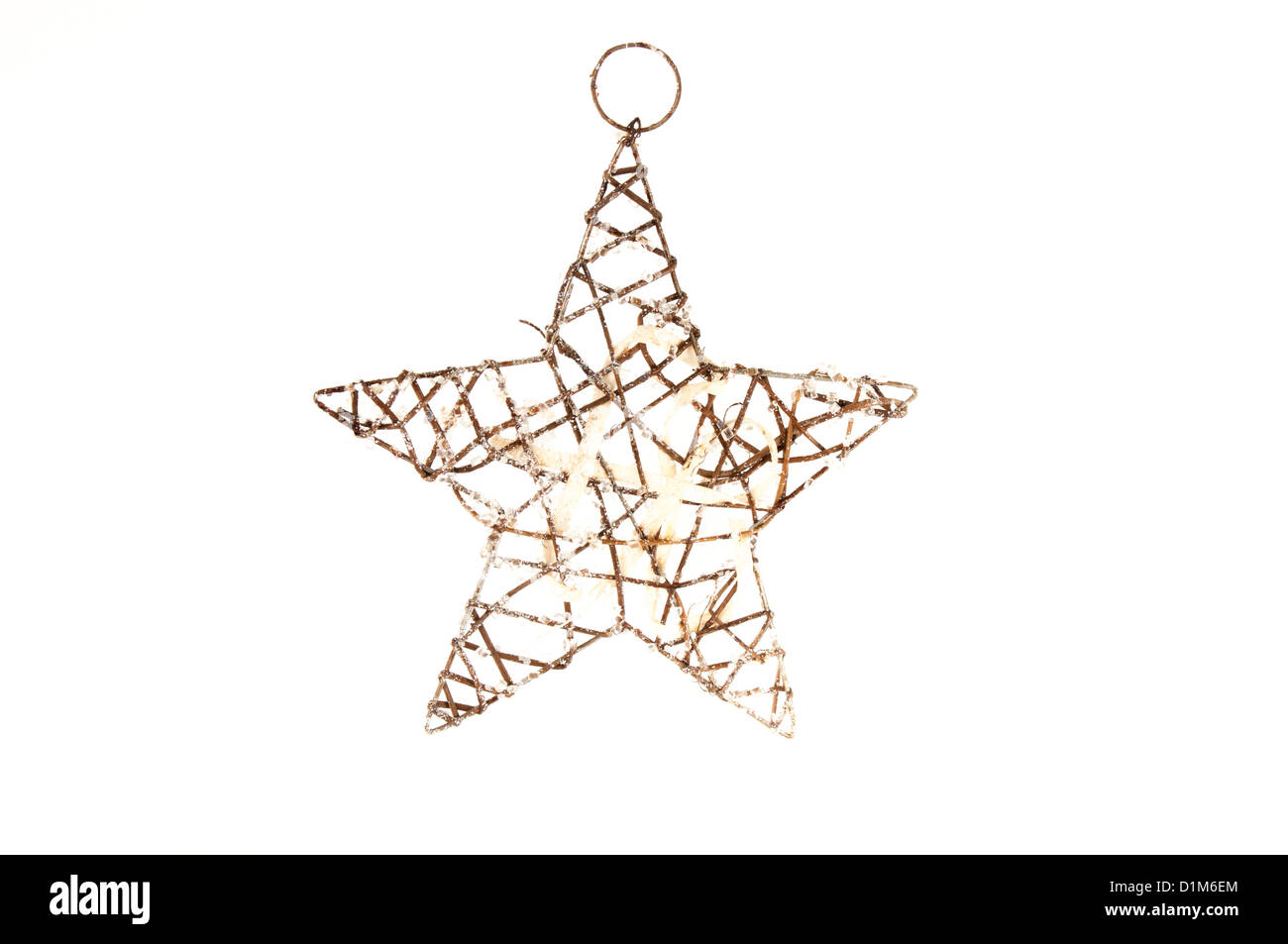 Beautiful wire frame star shaped christmas decoration Stock Photo ...