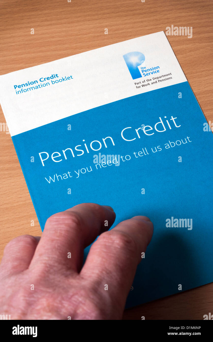 Pension Credit booklet - Stock Image