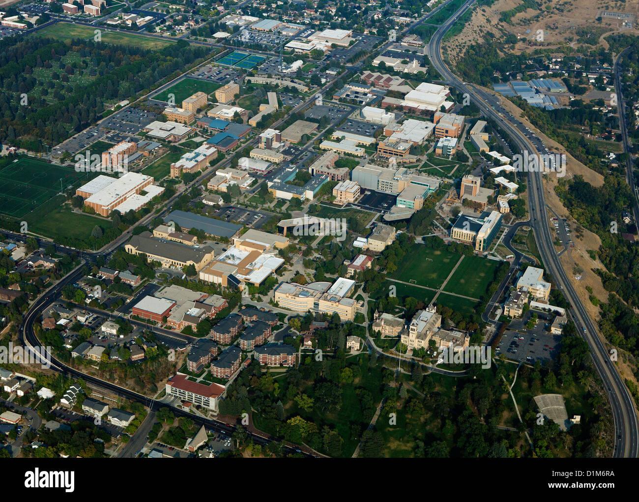 aerial photograph Utah State University, Logan, Utah - Stock Image