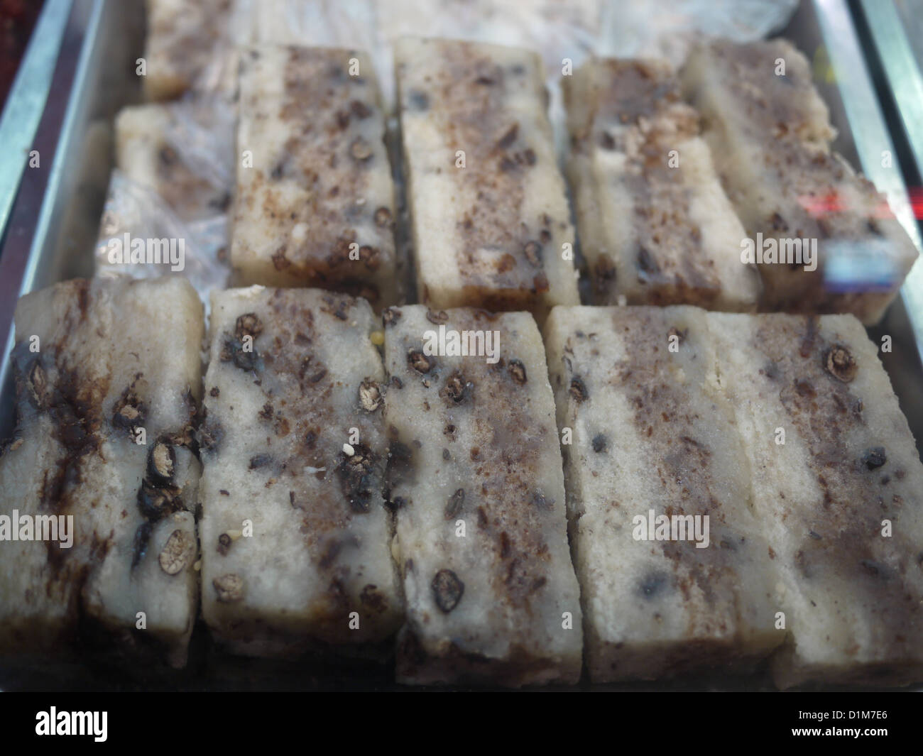 chinese pig oil cake unhealthy cholesterol Stock Photo