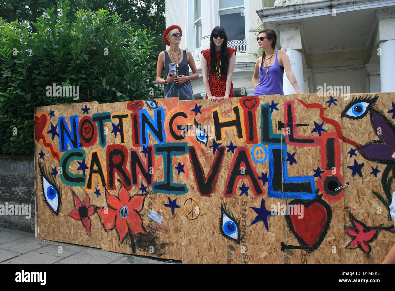 Notting Hill Carnival, London - Stock Image