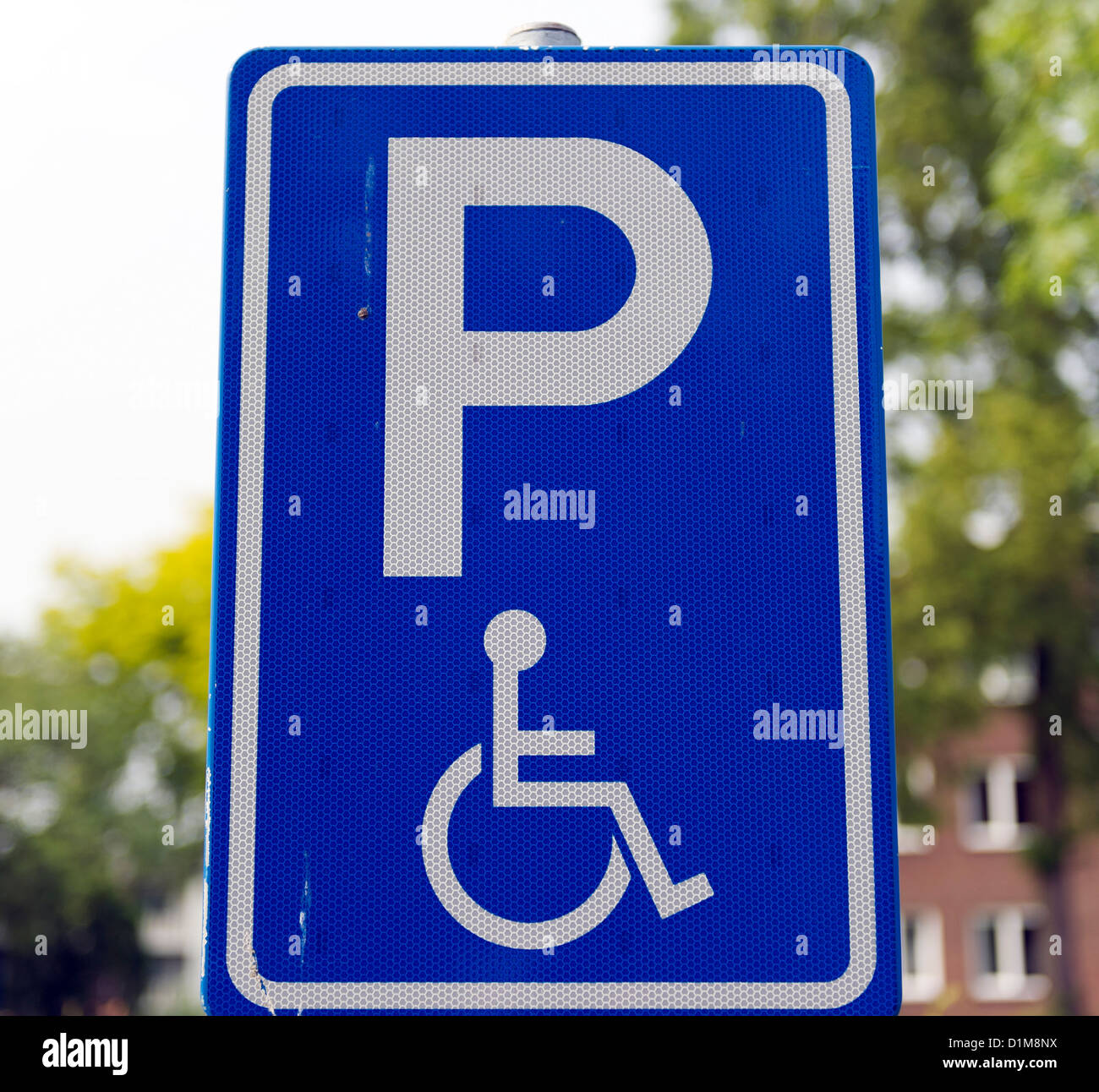 parking sign for disabled people - Stock Image