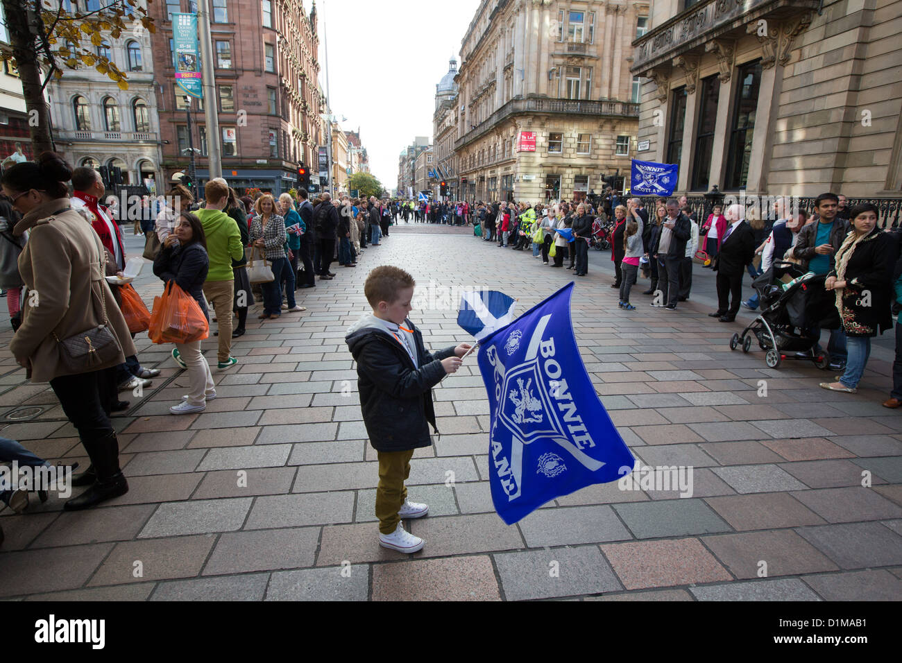 'Homecoming parade' for Scottish Olympic medal winners, celebrations in Glasgow, Scotland, on Friday 14th - Stock Image