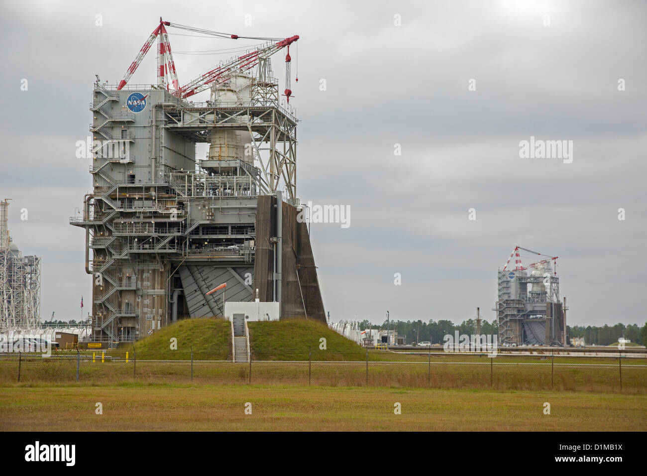 Bay St. Louis, Mississippi - A rocket engine test stand at NASA's Stennis Space Center. - Stock Image