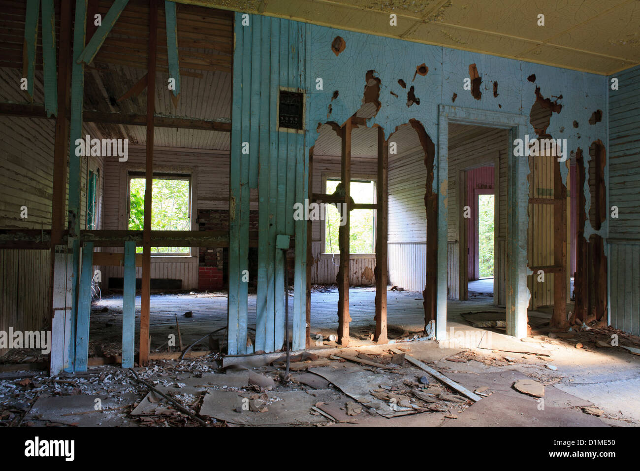 Abandoned home in the mining ghost town of Tahawus - Stock Image