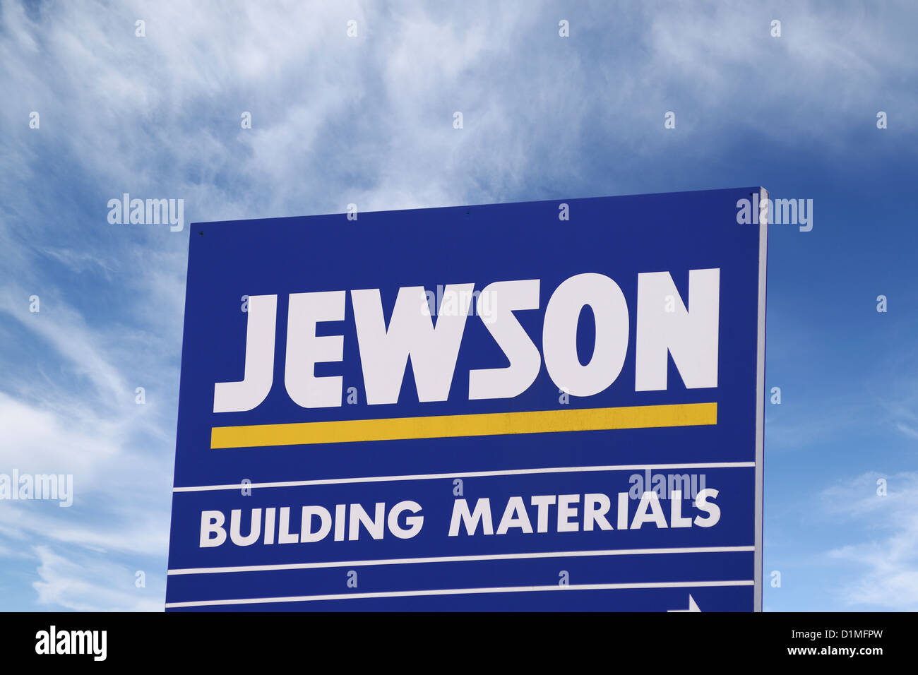 Jewson Sign, Builders Merchants. Oxford, United Kingdom. - Stock Image