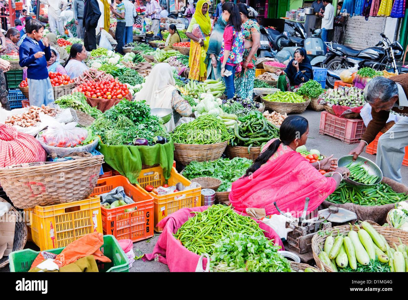 Indian Vegetables Market