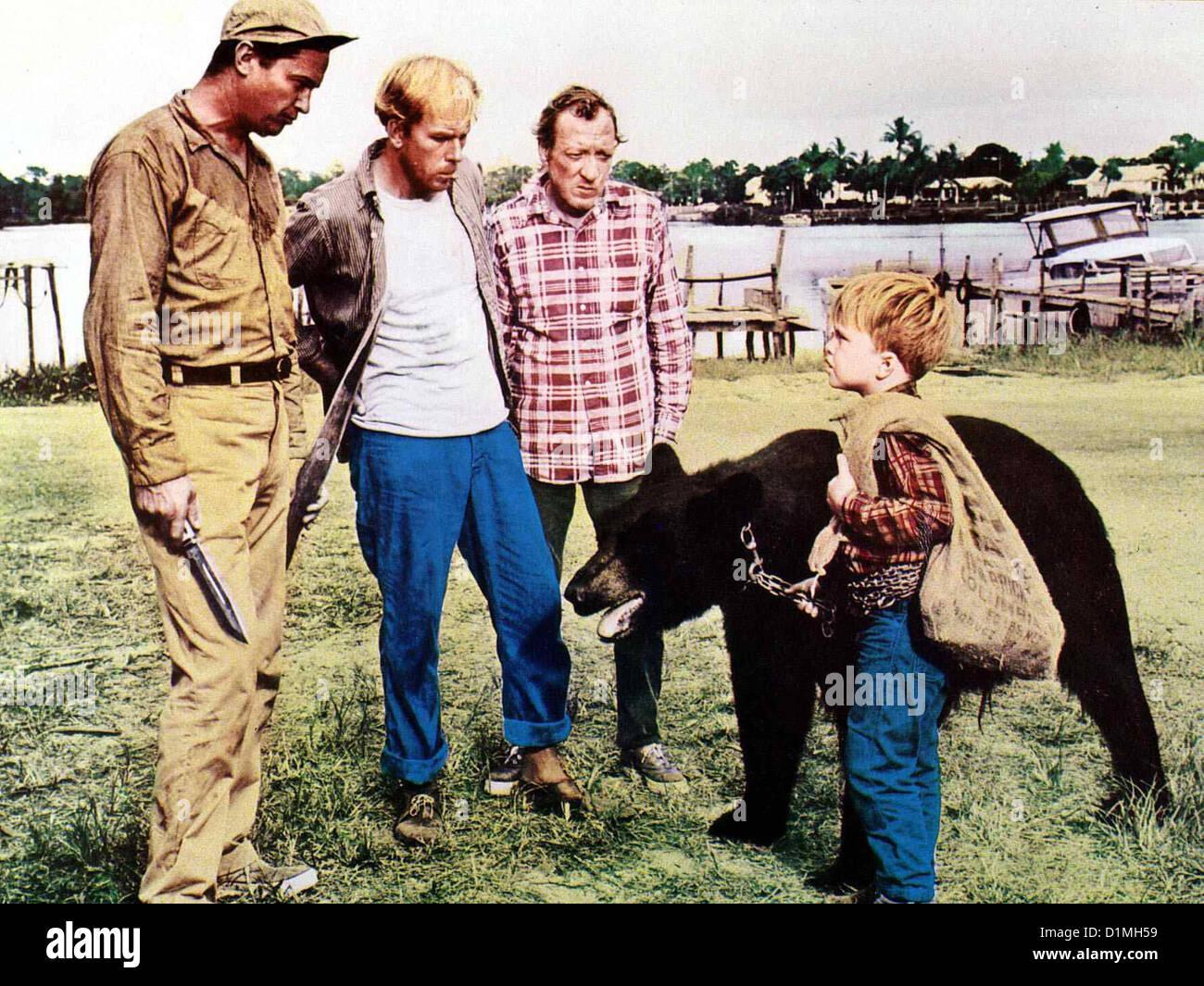 Der Sanfte Ben  Gentle Giant  Ralph Meeker, Rance Howard, Huntz Hall, Clint Howard Die Nachbarn sind nicht davon - Stock Image