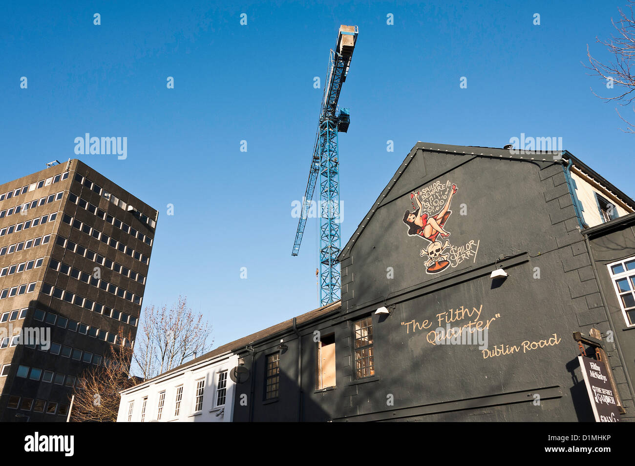 Filthy McNasty's Public House in Dublin Road Belfast County Antrim Northern Ireland United Kingdom UK - Stock Image
