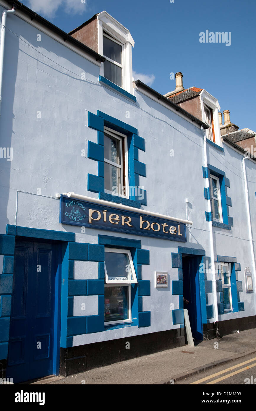 Pier Hotel, Portree, Isle of Skye, Scotland, UK - Stock Image