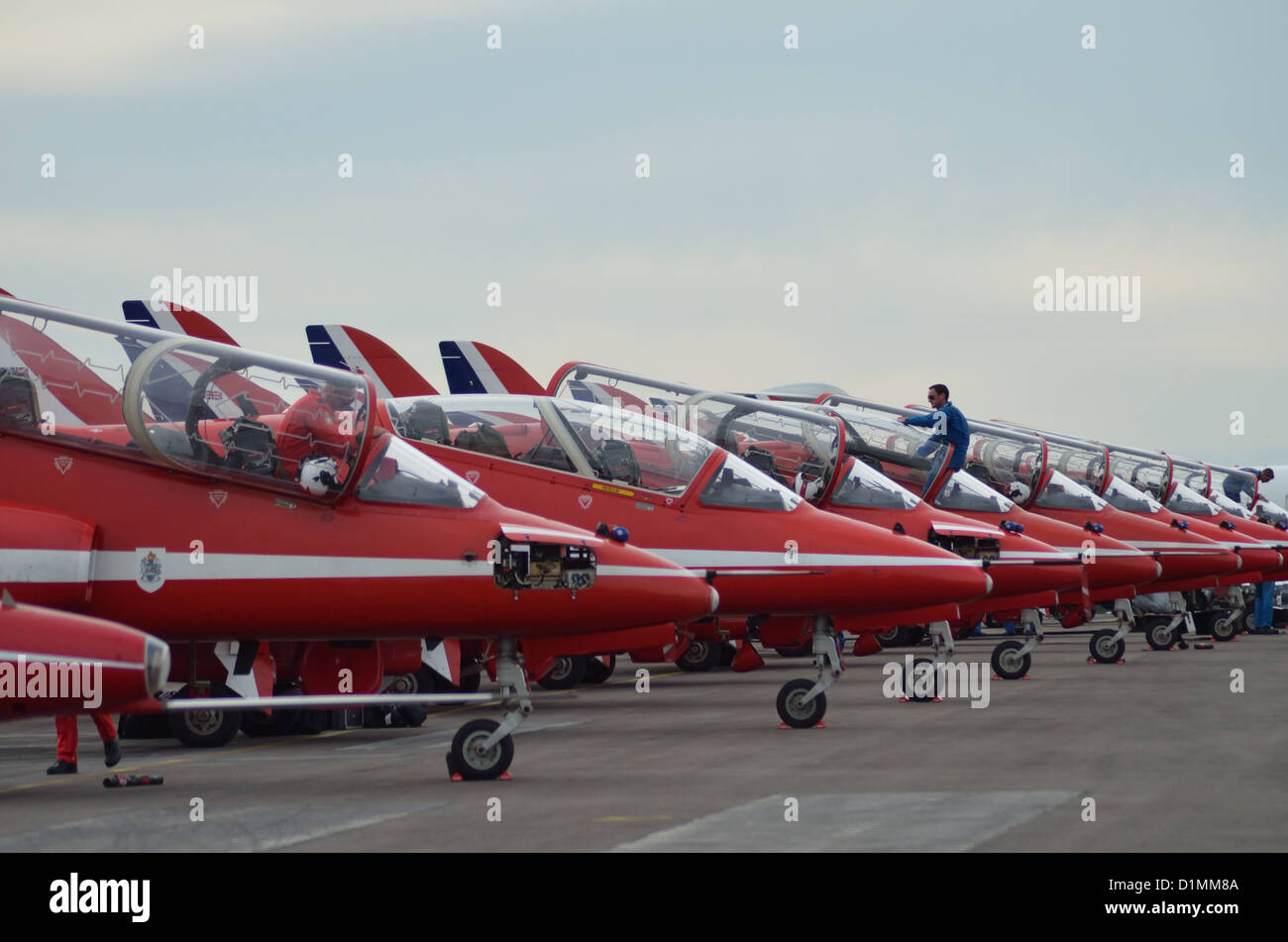 Royal Air Force Aerobatic Team - The Red Arrows Stock Photo