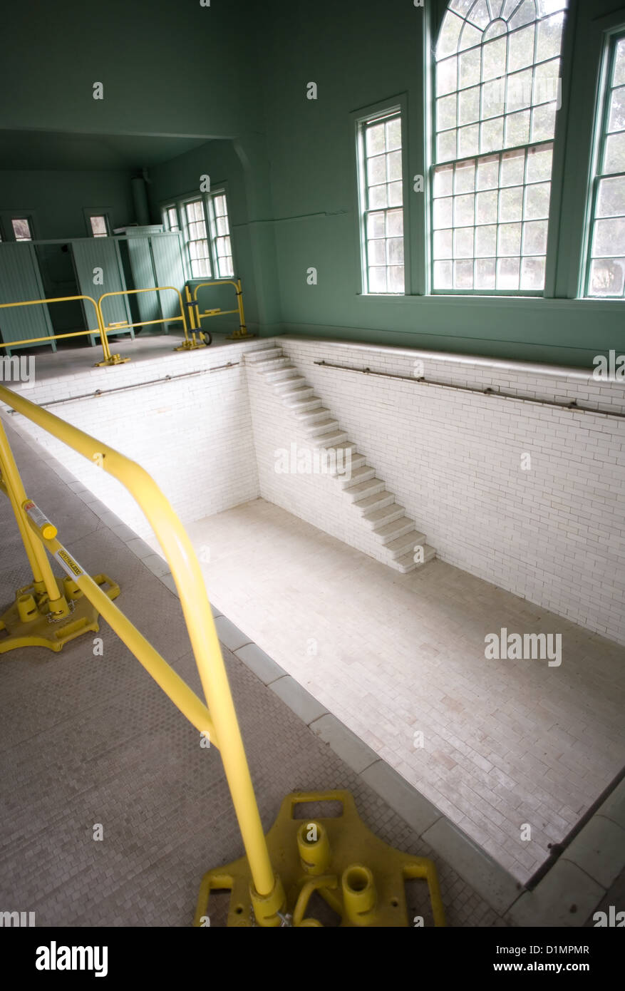 Swimming Pool at Plum Orchard Mansion on Cumberland Island National Seashore Stock Photo