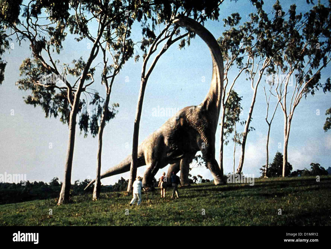 Jurassic Park  Jurassic Park - Hr  Richard Attenborough, Laura Dern, Sam Neill *** Local Caption *** 1993 Universal - Stock Image
