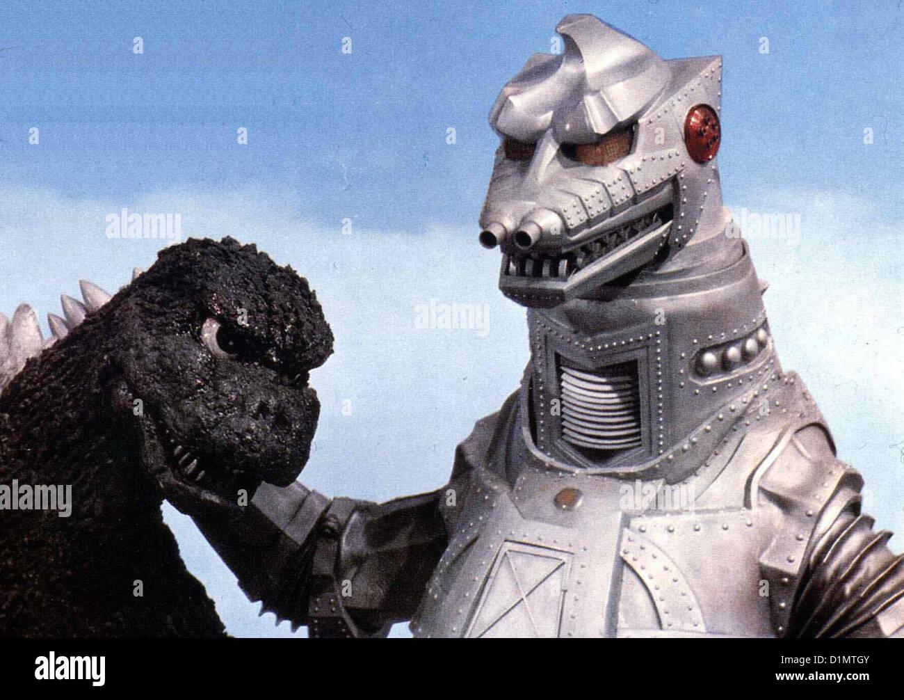 King Kong Gegen Godzilla  Gojira Tai Mekagojira  Der Roboter King Kong, der von Ausserirdischen ferngesteuert wird, - Stock Image