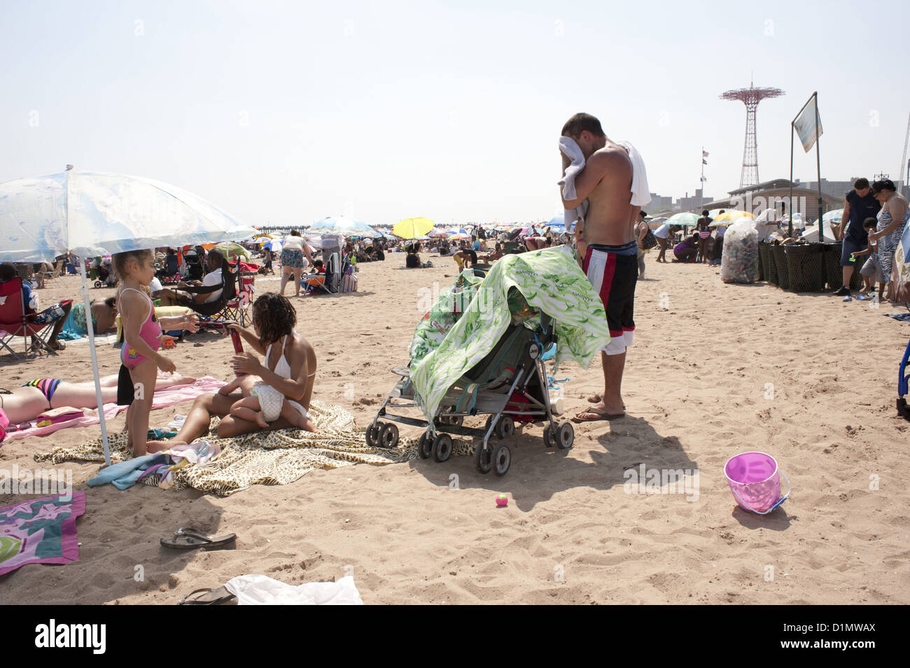 Fourth of July at Coney Island, 2012. - Stock Image