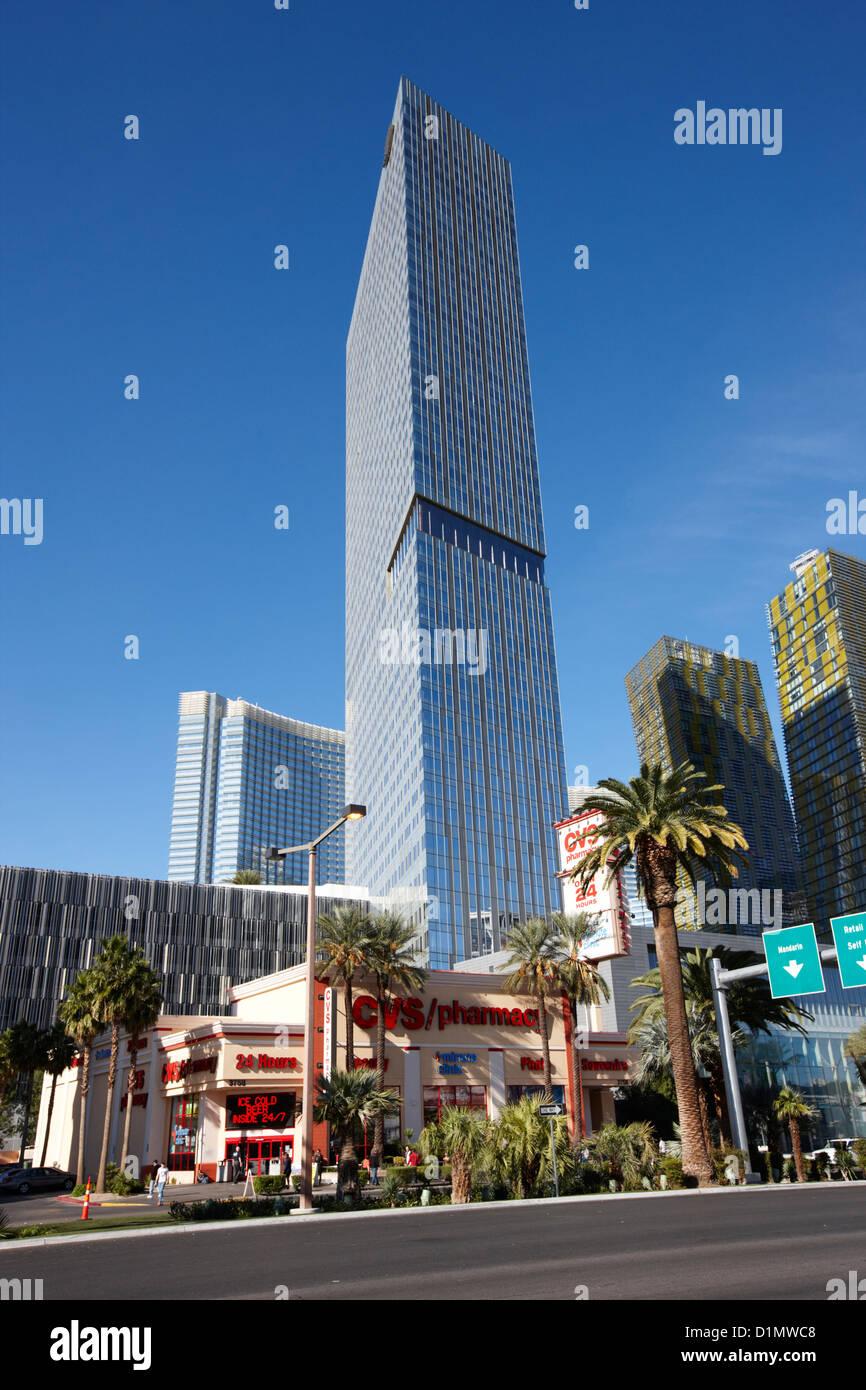 mandarin oriental hotel tower and residences Las Vegas Nevada USA - Stock Image