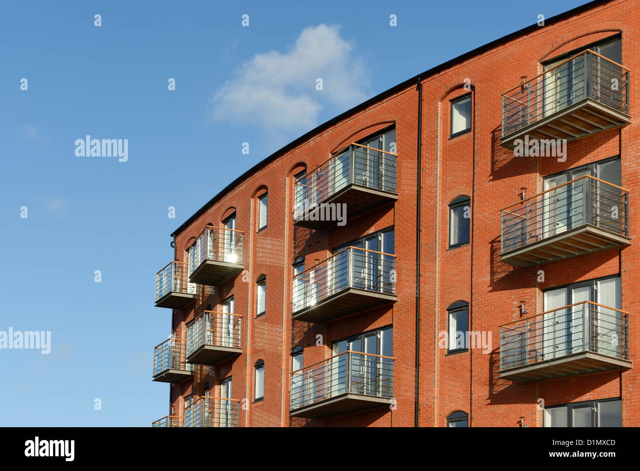 New build flats and apartments in Chester UK - Stock Image
