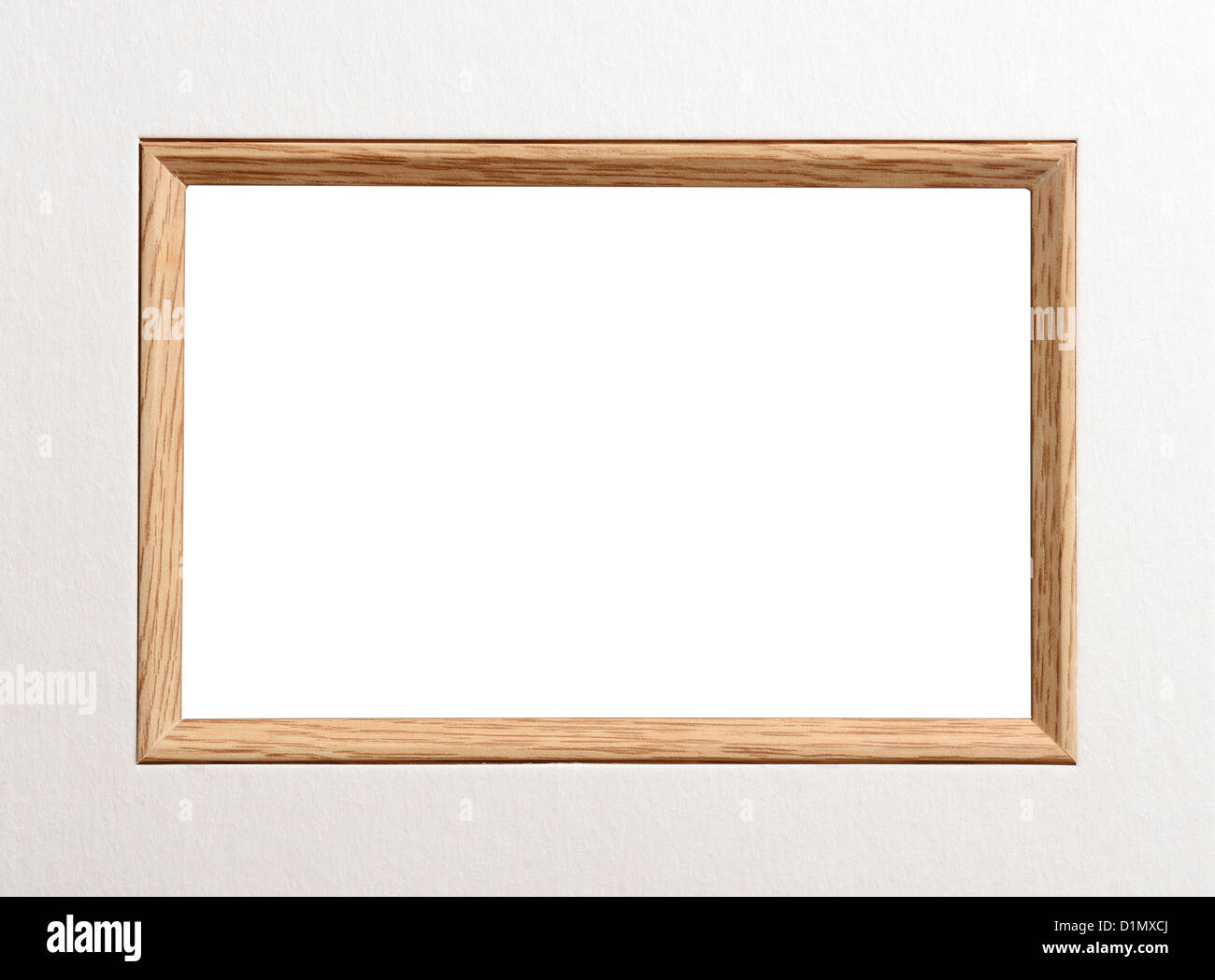 Wooden picture frame window - Stock Image