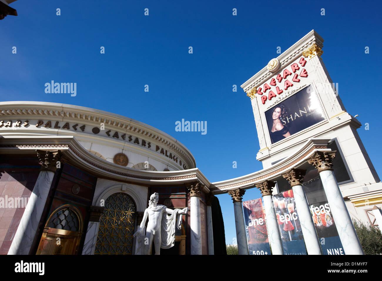 caesars palace luxury hotel and casino Las Vegas Nevada USA - Stock Image