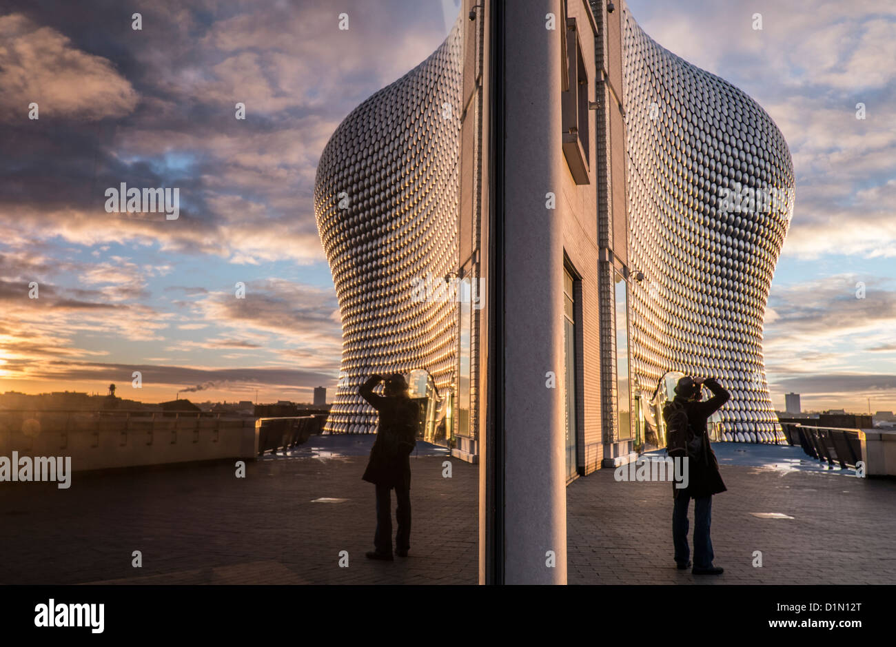 Early morning sunrise on the iconic Selfridges department store in Birminghams Bull Ring Shopping Centre, West Midlands, - Stock Image